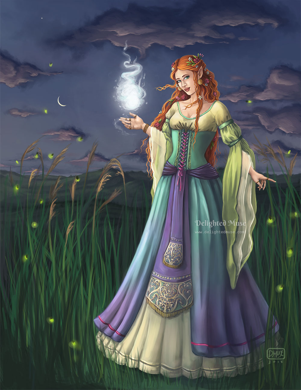 Digital Painting - Sorceress of Eventide