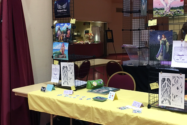 Artists' alley table from August 2018