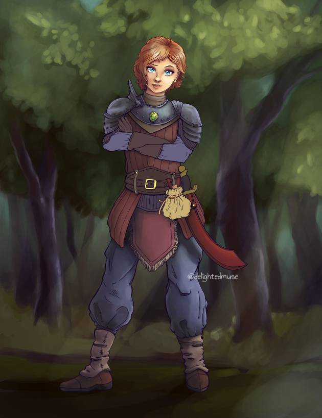 Work in progress digital painting of my Blaise Gunton mercenary character art