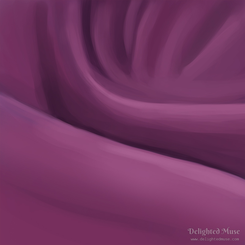 A digital painting purple fabric with sweeping folds